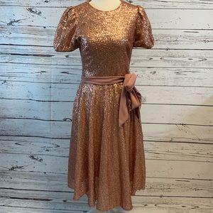 Gal meets glam pink sequin dress
